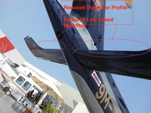 AW189 Stabiliser reduced profile to reduce downwash interference