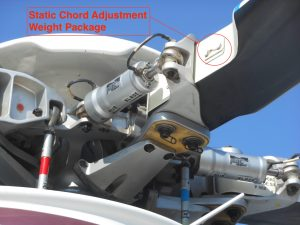 Rotor Blade Static Chord weight adjustment package - Aw139