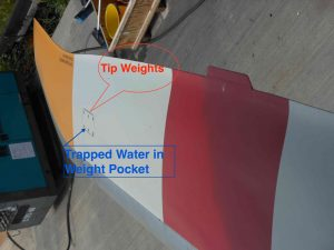 Rotor Blade Trapped water and tip weight pockets - Aw139