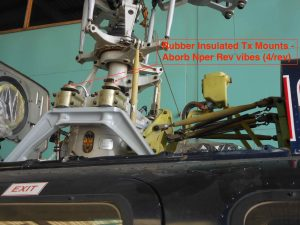 Bell407 Rubber Tx Mounts to absorb Nper Rev vibration